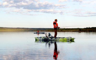 Kajakfiske på Fulufjället